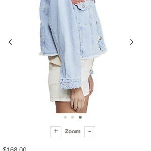 "Free People ""Baja Hood Denim Jacket"""